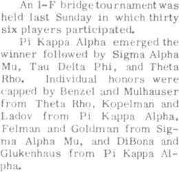 PiKA's History as Bridge Champs
